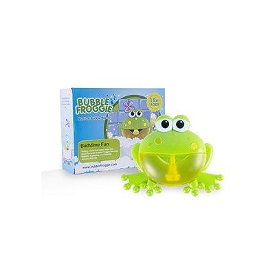 JiaJa Outdoor Bath Toy for Children Sucker Bubble Maker Music Bathroom Shower Bathtub Soap Bubble Machine Water Toy,Frog: Toys & Games