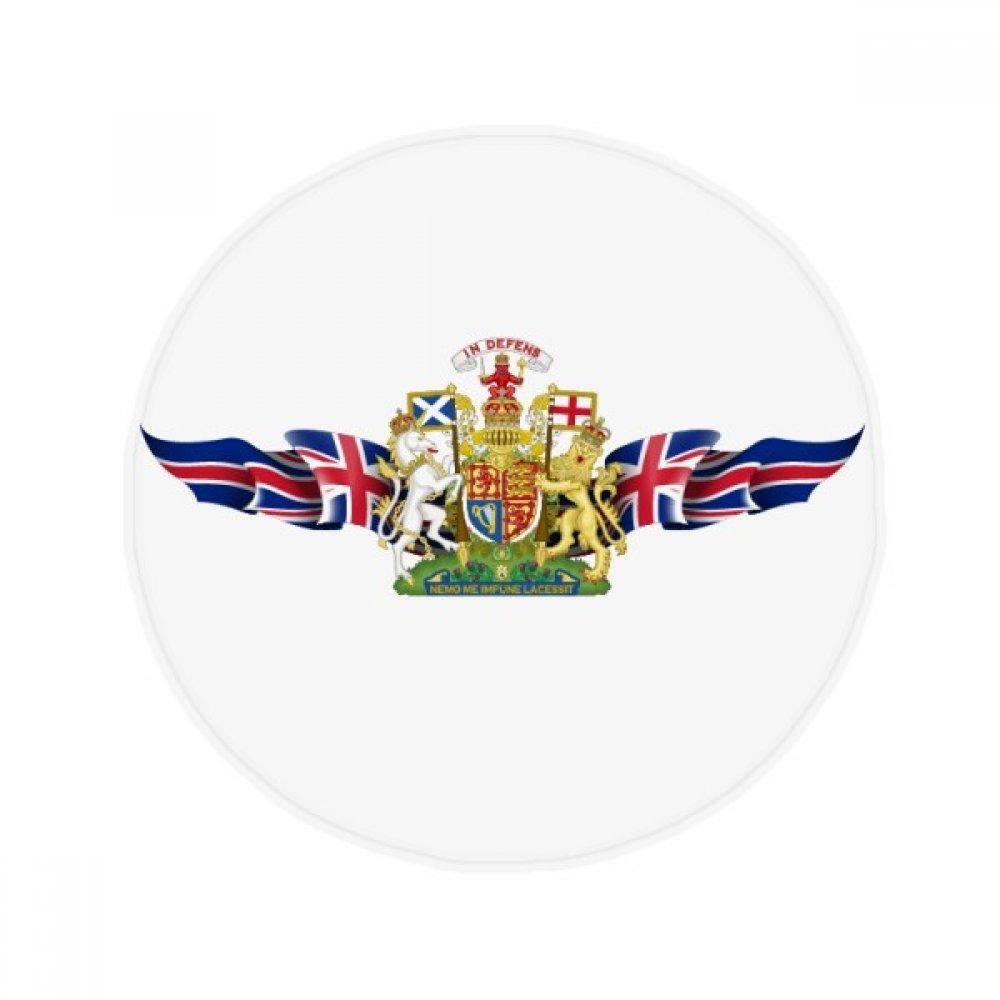60X60cm DIYthinker The United Kingdom Flag National Emblem Anti-Slip Floor Pet Mat Round Bathroom Living Room Kitchen Door 60 50Cm Gift