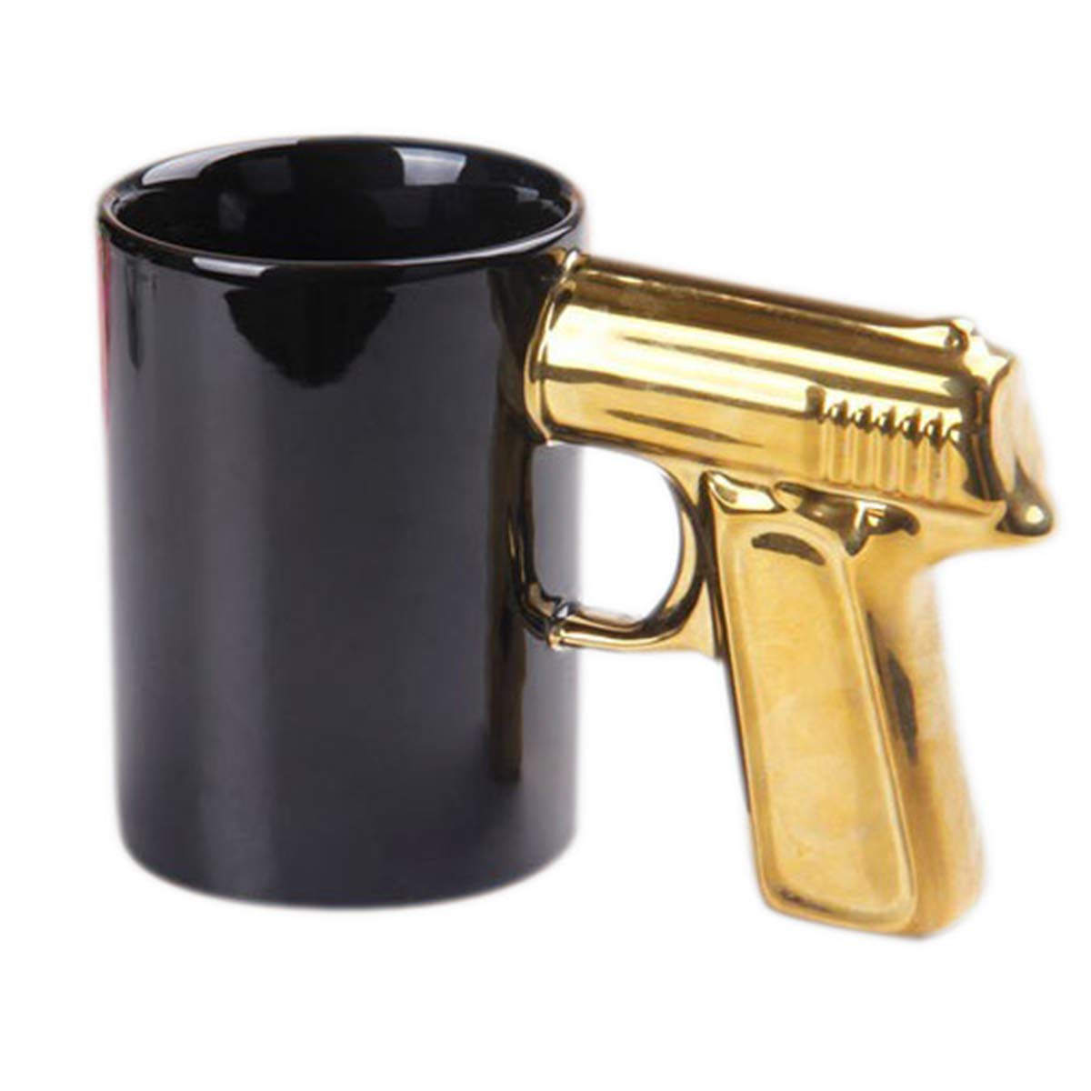 BonZeaL Pistol Shaped Handle Ceramic Coffee Mugs Tea Cups Birthday Gifts For Boyfriend Friend Boys Gift Men Him Quirky Husband Dad Brother