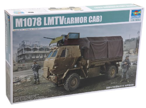 Trumpeter M1078 Light Medium Tactical Vehicle Cargo Truck with Armored Cab Model Kit, Scale 1/35