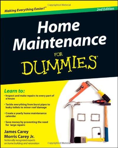 Home Maintenance For Dummies: James Carey, Morris Carey ...