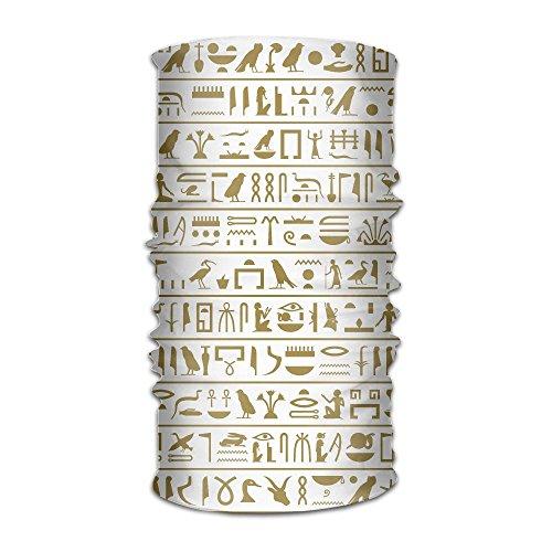 Ancient Ikonic Egyptian Hieroglyphs Original Headband Multi-Function Sports Leisure Headwear UV Protection Sports Neck, Sweat-Absorbent Microfiber Running, Yoga, Hiking