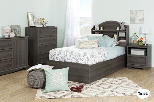 3-Drawer Dresser with Door in Gray Maple, 2 Closed Storage Spaces, Bedroom Furniture, Metal Drawer Slides, Adjustable Shelf, Laminated Particle Board, Bundle with Expert Guide for Better Life by X Trade Store (Image #3)