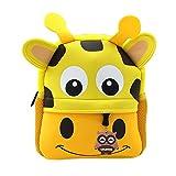 Lulutus Little Kids Cute Animals Backpack Preschool Bags Waterproof for Toddler Boys Girls,Giraffe