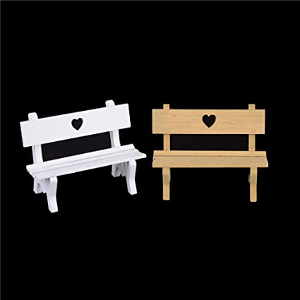 Groovy Amazon Com Agordo 16 512 5Cm Wooden Bench Chair 1 12 Bralicious Painted Fabric Chair Ideas Braliciousco