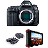 Canon EOS 5D Mark IV DSLR Body , Pro FilmMaker Kit - Bundle With Atomos Ninja Flame 7 Monitor Recorder, Atomos Power Kit
