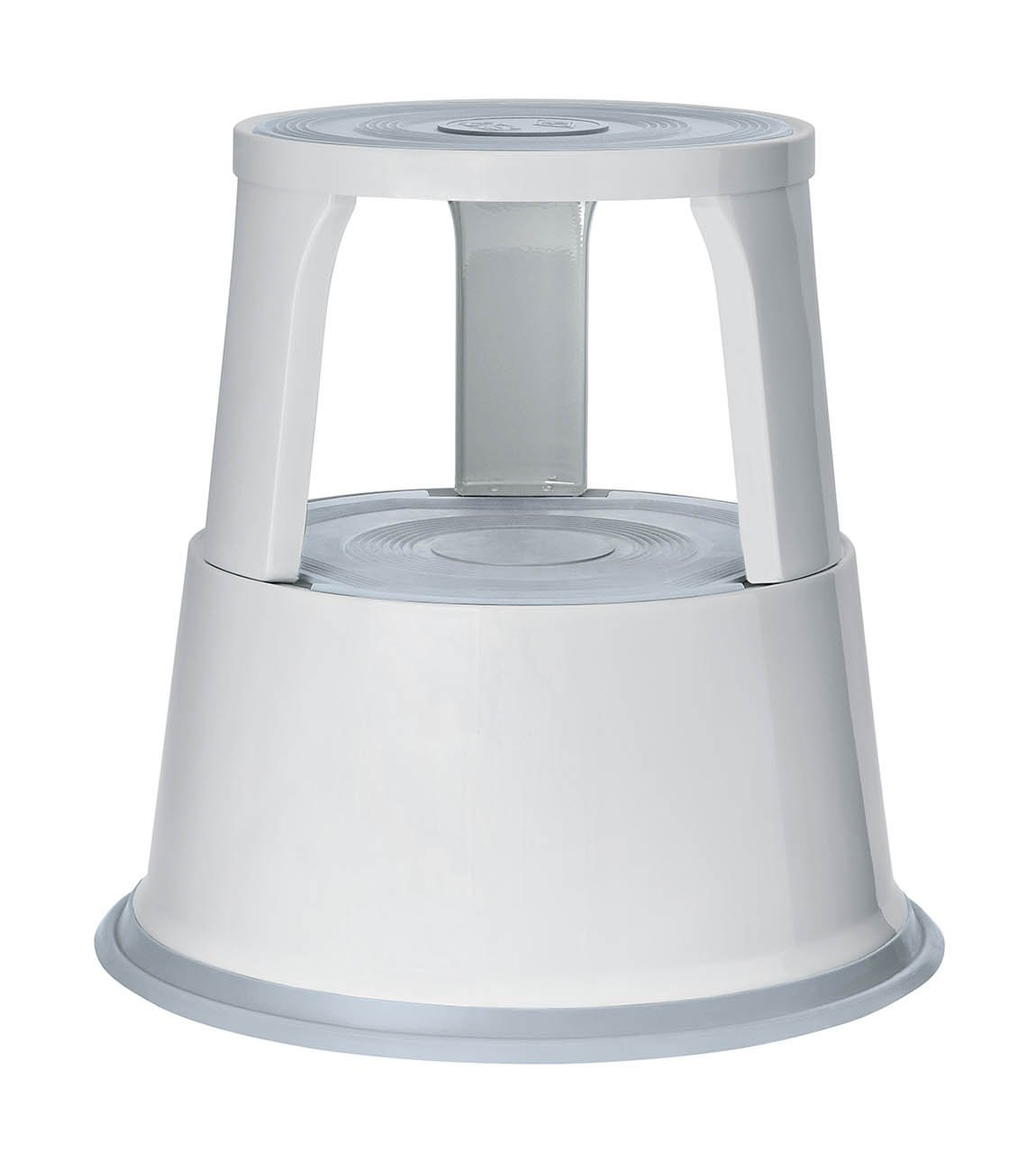 Q-Connect Metal Step Stool Light Grey Werner Dorsch 212137