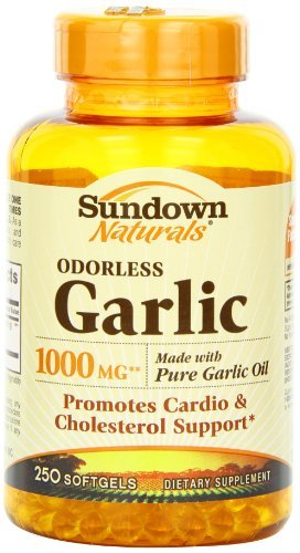 Sundown Naturals Odorless Garlic 1000mg Softgels, 250 Count (Pack of 3)