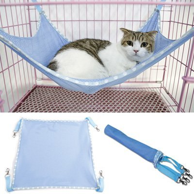 Cama de Mascotas Premium, Gatos Hamaca de Malla Transpirable Colchoneta Jaula de Mascotas Silla Hamaca