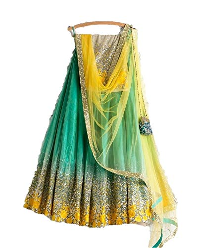 Indain Designer Collection Embroidery Green Color Lehenga Choli for Woman & Girl A581