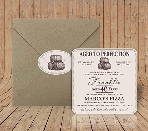 amazon com custom invitation coasters aged to perfection birthday