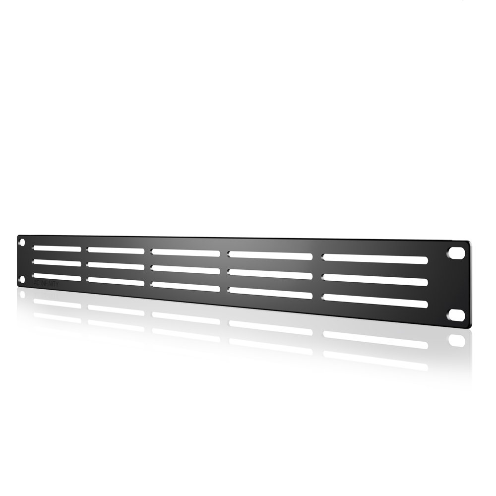 AC Infinity Rack Panel Accessory Vented 1U Space for 19'' Rackmount, Heavy-Duty 3mm Gauge Steel, Black by AC Infinity