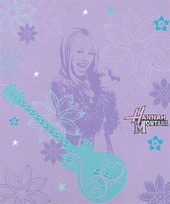 Hannah Montana Microfiber Fleece Musical Throw Blanket (Hannah Blanket Montana)