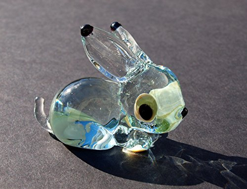 Glass Bunny Figurine from Cute Glass Animals Glass Menagerie - Glass Bunny
