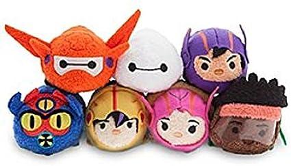 Amazon Com Disney Big Hero 6 Tsum Tsum Mini Plush Collection Set Of 7 Baymax Etc Toys Games