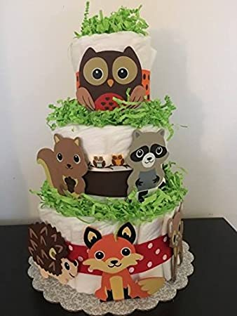 Amazoncom Woodland Theme Diaper Cake Woodland Critters Diaper