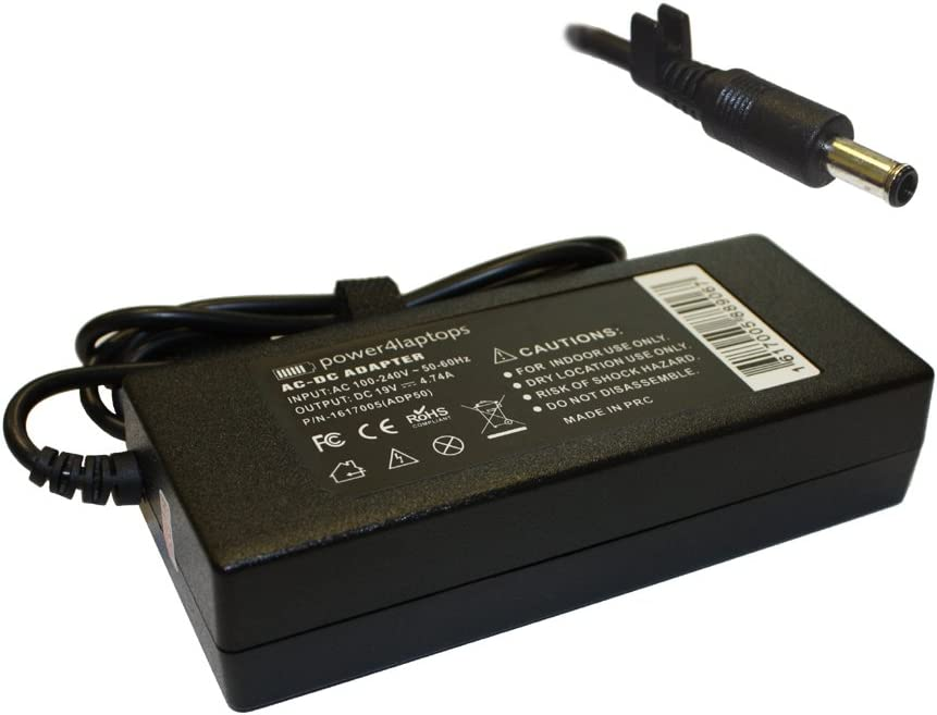 Power4Laptops AC Adapter Laptop Charger for Samsung R610-Aura P8400 Dori, Samsung R610-Aura P8700 Eclipse, Samsung R610-Aura P9500 Delu, Samsung R610-Aura T3400 Dienh, Samsung R610-Aura T5900 Deliz