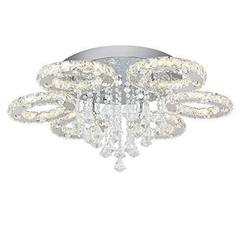 LED Kristall Deckenleuchte Wohnzimmer Wandlampe Küche Deckenlampe Dimmbar Flur