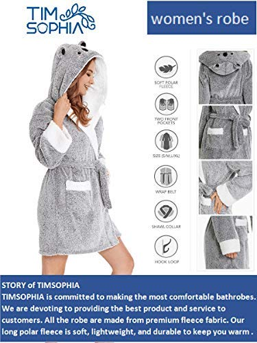 8dab3bc00e TIMSOPHIA Robes for Women Bathrobe with Hood Spa Robes Fun Robes for Women  at Amazon Women s Clothing store