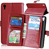 Alcatel Idol 3 ( 5.5 inch ) Case,YiLin [Wallet Case] 9 Card Holder [Detachable Wallet Folio] Premium PU Leather Cover Case with [Card Slots] [Stand] for Alcatel OneTouch IDOL 3 (5.5 inch) [Brown]