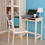 1208S Home Office Computer Desk Laptop Table Writing Desk with Drawer for Small Space, White