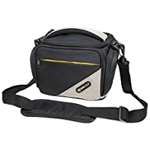 Evecase® Black Medium SLR Camera Pouch Case/Bag with Strap for Canon EOS T5i ,T4i , T3 , T3i , T2i , T1i, XSi, 60D, Powershot SX50 HS, SX40 HS, SX510 HS, SX500 IS Digital Camera