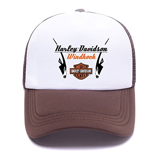 Harley D Black Baseball Caps Gorras de béisbol Trucker Hat Mesh Cap For Men Women Boy Girl 011 Brown