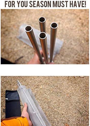 Zhoutao Fosses pliables extérieures de barbecue d'outil de barbecue portatif d'acier inoxydable, poêle ultra-légère de grille