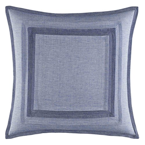 Nautica Waterbury Throw Pillow, 18x18, Medium Blue
