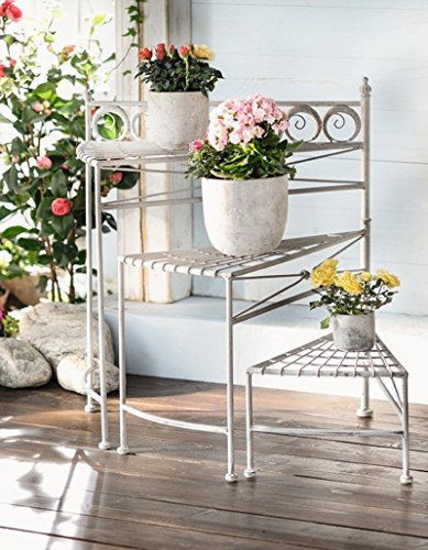 26 in. Tall 3-Tier Spiral Staircase Folding Metal Garden Plant Stand, Collapsible Product SKU: GD221406