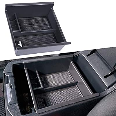 JDMCAR for Toyota 4Runner ?2010-2019?, Center Console Organizer Insert ABS Black Materials Tray, Armrest Box Secondary Storage