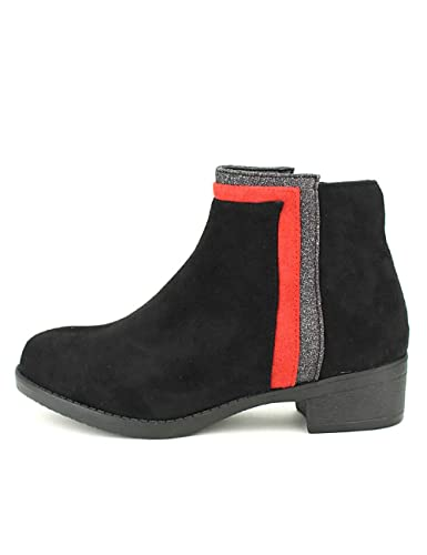 CendriyonBottines Bande Rouge Noires Chaussures LOV'IT eD2YEH9WI