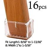 Bar Stool Floor Protectors LimBridge Chair Leg Wood Floor Protectors, Chair Feet Glides Furniture Carpet Saver, Silicone Caps with Felt Pads #9, Fit Length 1-9/16