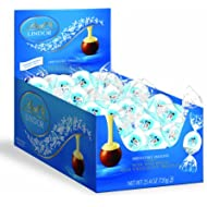 Lindt LINDOR Holiday Snowman Milk & White Chocolate Truffles, Kosher, 60 Count Box