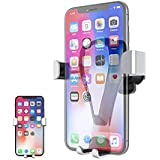 Moallia Universal Smartphones Air Vent Gravity Car Mount Phone Holder,Compatible with iPhones X/8/7/6/6s/plus/5c/5s/SE, Galaxy S5/S6/S7/S8/S9, Google, LG, Huawei and More