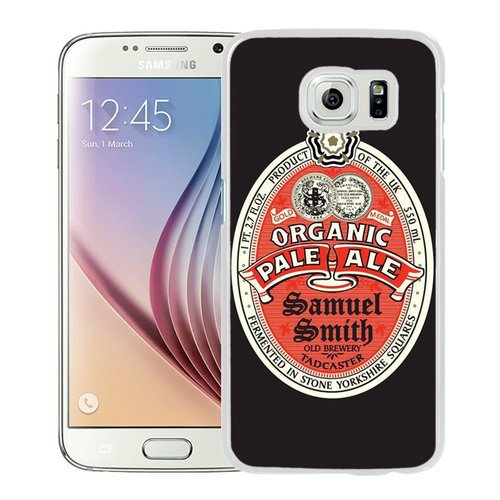 (Samuel Smith Organic Pale Ale White Screen Cover Case Fit for Samsung Galaxy S6,Popular Cover)