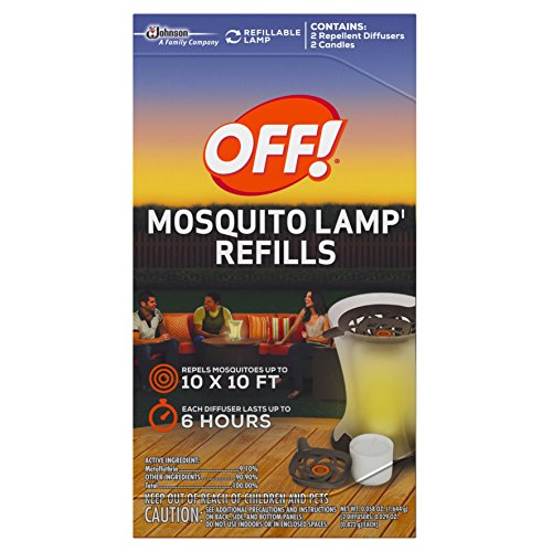 S C JOHNSON WAX 76086 Off Mosquito Lamp Refill, 2-Pack