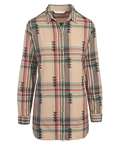 woolrich-womens-first-light-jacquard-shirt-warm-taupe-small