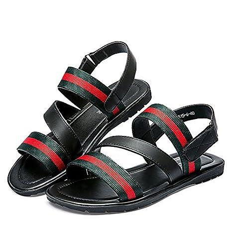 nackte männer sandalen, beach - schuhe, junge britische casual schuhen mit dicken sohlen, rutschfeste hausschuhe,39,rot