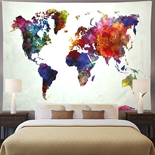 Ameyahud Tapestry Watercolor Abstract Colorful product image