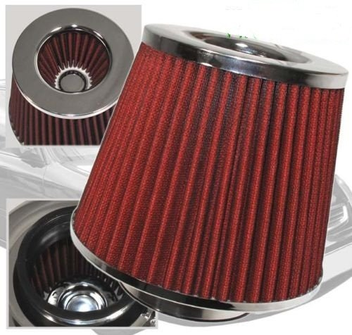 "01 02 03 04 05 Sebring 2dr 2.4 / 3.0 Air Intake Filter MAF Adapter + 3"" Air Filter (Include Red Air (2dr Air)"