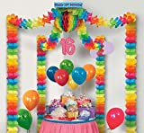 Pack of 6 Multi-Color 16th Birthday Party Canopy Decorating Kit 20' x 20'