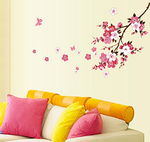 FashionBoutique Beautiful Oriental Cherry in Full Blossom, Classic Home Decal Quote,prettify Your Life!