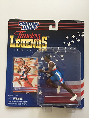 MICHAEL JOHNSON / USA OLYMPIC TRACK AND FIELD * 1996 TIMELESS LEGENDS Kenner Starting Lineup & Exclusive Collector Trading Card