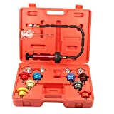 14pc Radiator Pump Pressure Leak Tester Checker Kit Aluminum Adapters w/ Case
