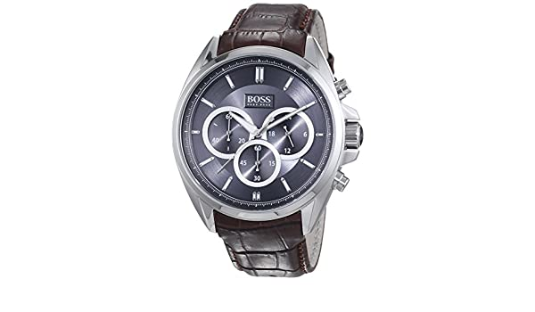 Amazon.com: Hugo Boss Anthracite Dial SS chronograph Quartz Mens Watch 1513035: Hugo Boss: Watches