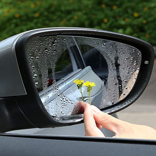 ELESKY Car Rear View Mirror Film HD Clear Rainproof Film Anti-Fog Anti-Glare Anti-Scratch Anti-Mis Rainproof Waterproof, Safe Driving Sticker