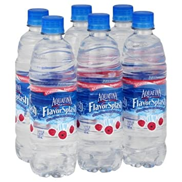 flavored bottled water