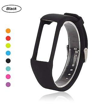 Bemodst® – Correa de muñeca de repuesto de silicona para reloj inteligente Polar A360, color negro: Amazon.es: Deportes y aire libre
