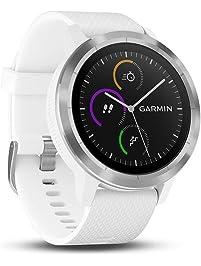 GARMIN - Smartwatch GARMIN Vivoactive 3 1,2' GPS Waterproof 5 ATM Glonass White Stainless steel (Renewed)
